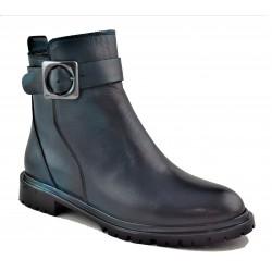 olejová kožená kotníková obuv Akche 020-6053