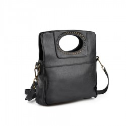 černá kabelka se cvoky TENDENZ FFW18-070