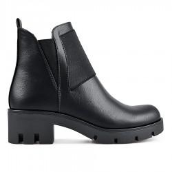 černá kotníková obuv na širokém podpatku Tendenz REW19-017