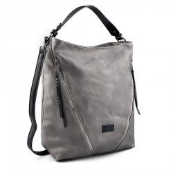 šedo-stříbrná kabelka TENDENZ FFW19-055