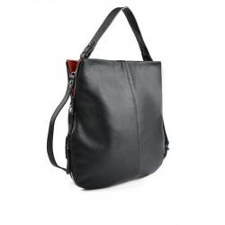 černo-červená kabelka TENDENZ FFW19-082