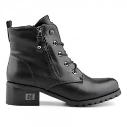 černá kotníková obuv s ozdobným šněrovánímTendenz MGW19-008
