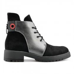 černo-stříbrná stylová kotníková obuv Tendenz MGW19-016