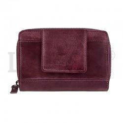 dámská kožená fialová (plum) peněženka 931/D