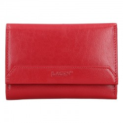 dámská červená kožená peněženka LG-11/B