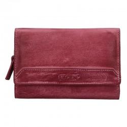 dámská kožená fialová (plum) peněženka LG-11/D