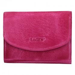 dámská kožená tmavě růžová (fuchsia) peněženka LG-2522/D