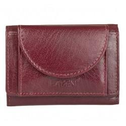 unisex bordó kožená peněženka W-2030
