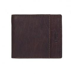 pánská tmavě hnědá kožená peněženka 8697