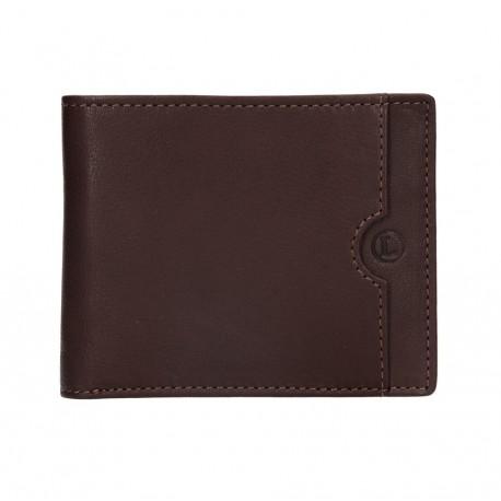 pánská hnědá kožená peněženka BLC/4231