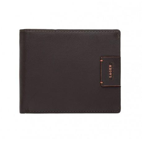 pánská hnědá kožená peněženka LG-1120