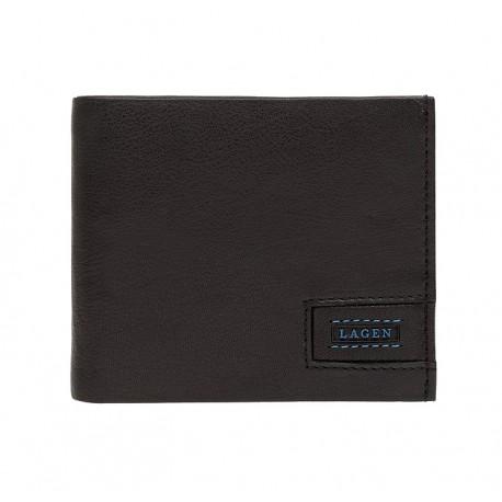 pánská černá kožená peněženka LG-11251