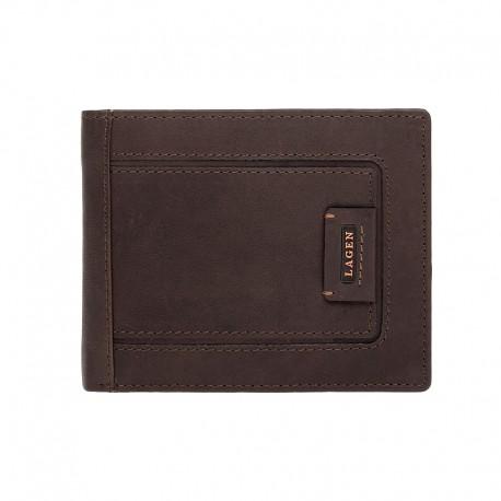 pánská hnědá kožená peněženka LG-1131