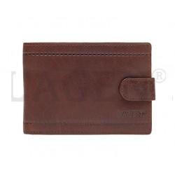 pánská hnědá kožená peněženka LV-8004