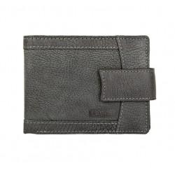 pánská černá kožená peněženka V-05/W