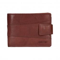 pánská hnědá kožená peněženka V-98