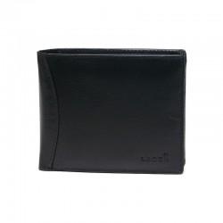 pánská černá kožená peněženka W-8120