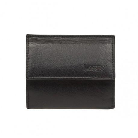 pánská černá kožená malá peněženka E-1055