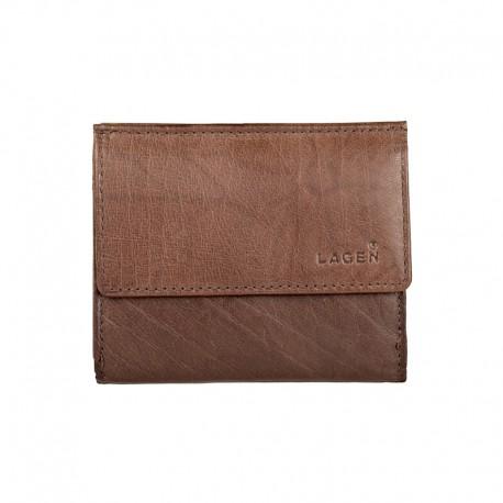 pánská hnědá kožená malá peněženka E-1055