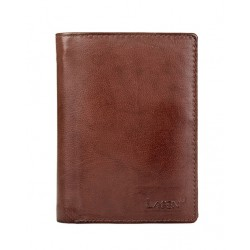 pánská hnědá kožená peněženka V-26