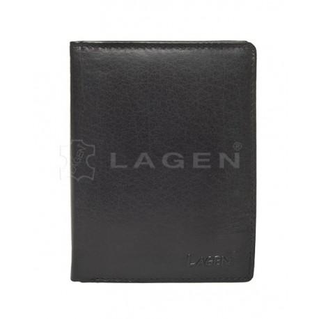 pánská černá kožená peněženka V-26