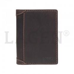 pánská hnědá kožená  peněženka 51146