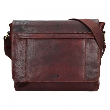 pánská hnědá (TAN) kožená taška s přihrádkou na notebook 25693