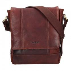 pánská hnědá (TAN) kožená taška přes rameno 25696
