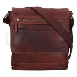 pánská hnědá (TAN) kožená taška přes rameno LN-22014