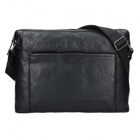 pánská černá hnědá kožená taška s přihrádkou na notebook 23605