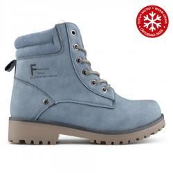 modrá kotníková obuv (farmářky) s vnitřním kožíškem Tendenz QMW19-030