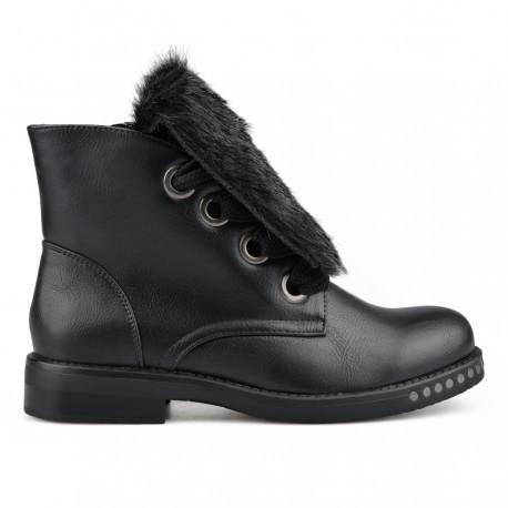 černá stylová kotníková obuv Tendenz MIW18-009