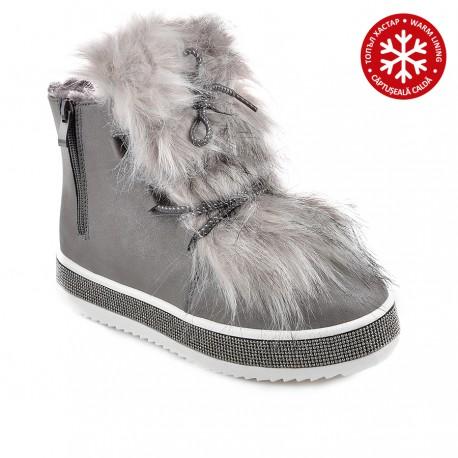 šedá stylová kotníková obuv Tendenz RIW18-063
