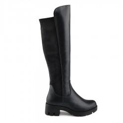 černé vysoké kozačky nad kolena Tendenz REW19-022