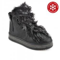 černá stylová kotníková obuv Tendenz RIW18-063
