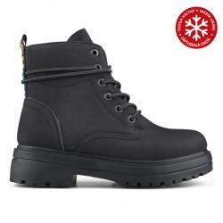 černá kotníková obuv (farmářky) s vnitřním kožíškem Tendenz QMW19-031