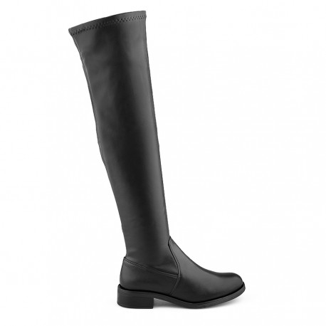 černé vysoké kozačky nad kolena Tendenz MIW19-021