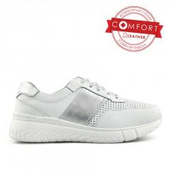 bílé kožené tenisky Tendenz NTS20-049
