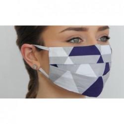 rouška  s tmavě modrými trojúhelníky s ionty stříbra MOBO01