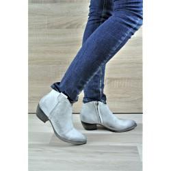 špinavě bílá kožená italská jarní kotníková obuv western Riccianera 2011