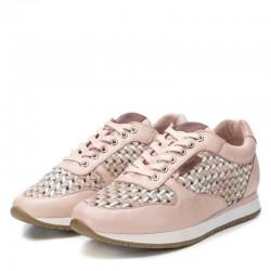 béžovo-růžové (nude) kožené španělské tenisky Carmela 67279