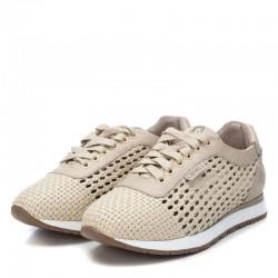 béžové kožené španělské tenisky Carmela 67341