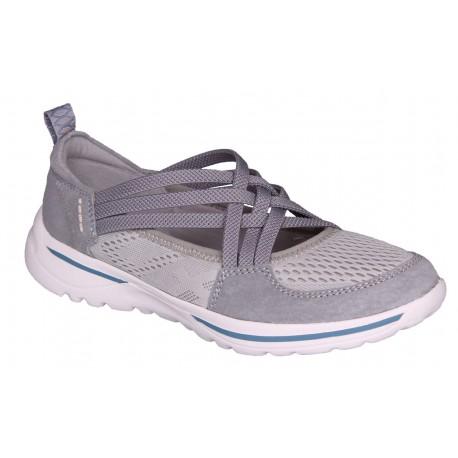 šedá kožená slip-on obuv Rock spring Laredo