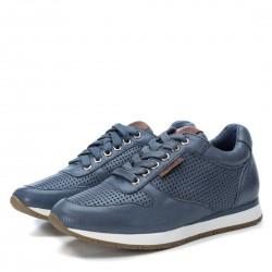 modré kožené španělské tenisky Carmela 67270