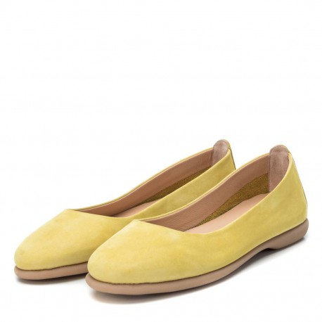 žluté kožené španělské baleríny Carmela 67149