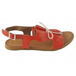 červené kožené sandálky Bari Kira 99
