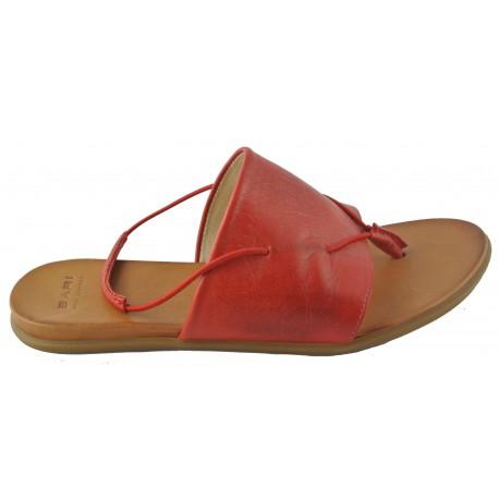 červené kožené žabky Bari Kira 35