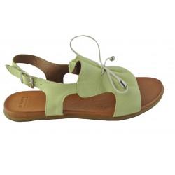 mentolově zelené kožené sandálky Bari Kira 99