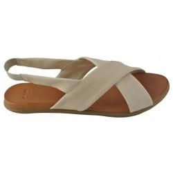 béžové kožené sandálky Bari Kira 71