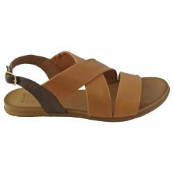 hnědé (couio) kožené sandálky Bari Kira 90
